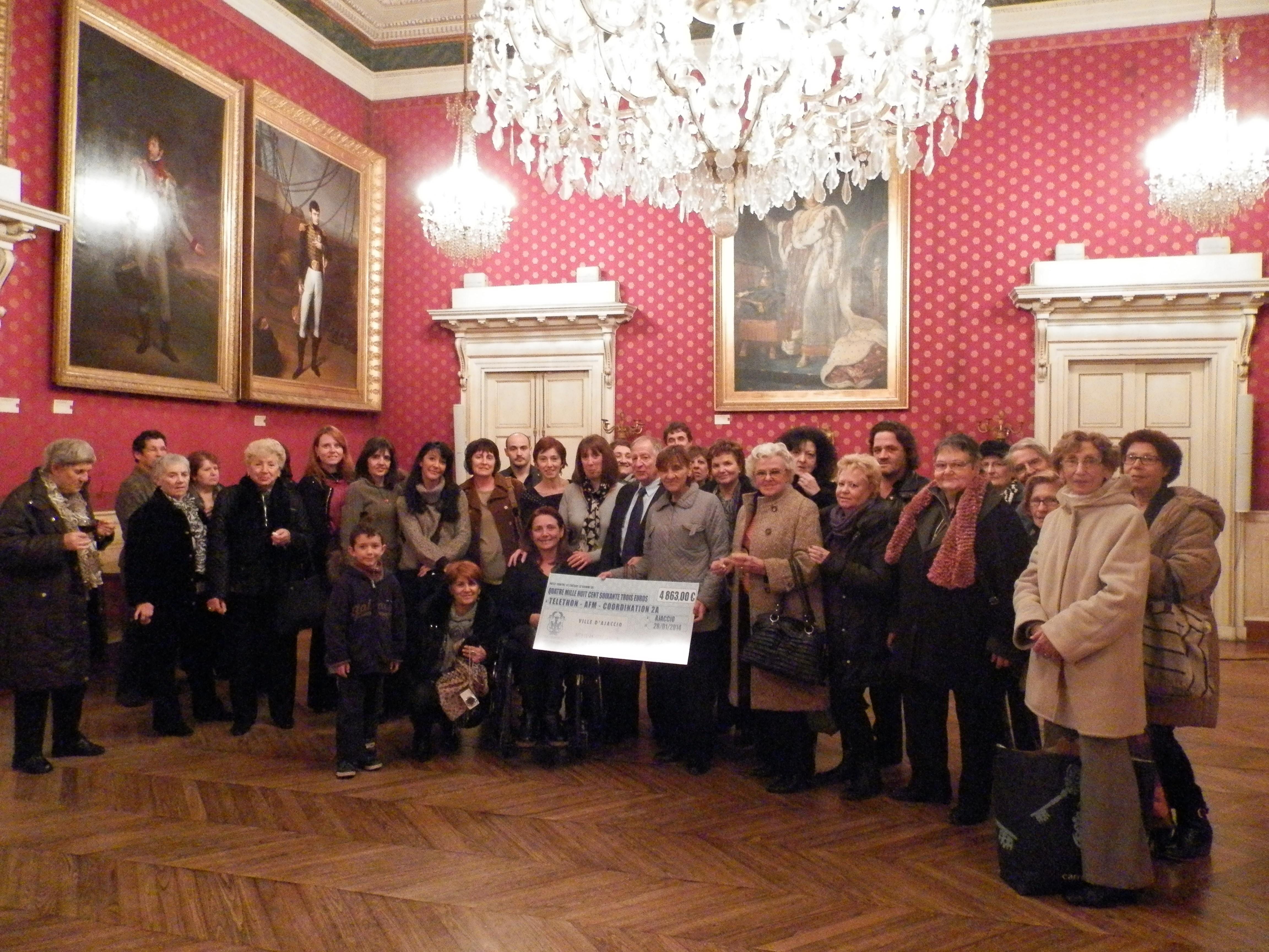 Les actions de la Ville d'Ajaccio ont rapporté 4 863 € au Téléthon 2013