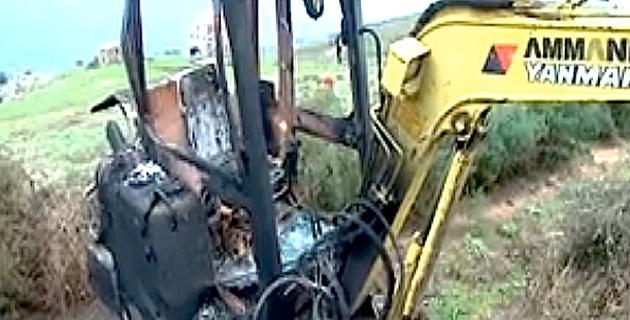 Coggia : Une pelle mécanique détruite par un incendie au domaine de Rovani