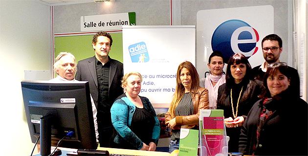 Yvan Franchi (Deuxième à partir de la gauche) : le microcrédit a permis la création de 142 entreprises en Corse en 2013