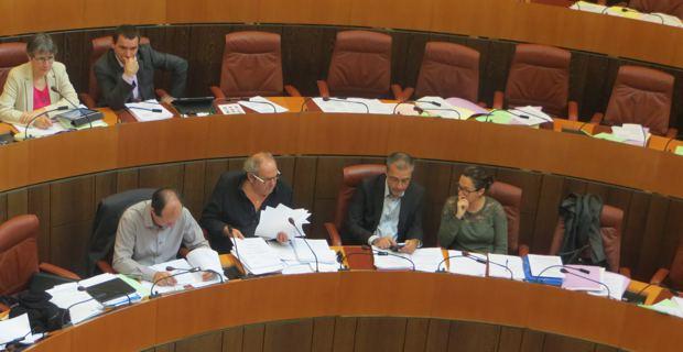 Les élus nationalistes à l'Assemblée de Corse.