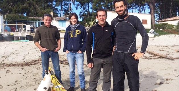 Ramon et Laurent ont su accueillir chaleureusement le jeune espagnol. (Photo SG)