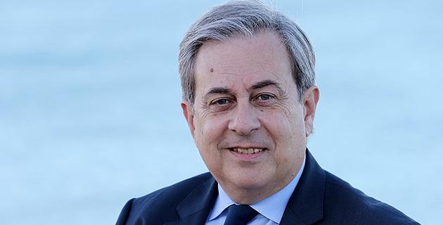 Ange Santini, maire sortant de Calvi et candidat à sa propre succession pour les élections municipales de mars 2014.