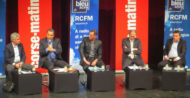 Eric Simoni, François Tatti, Gilles Simeoni, Jean Zuccarelli, Jean-François Baccarelli et Jean-Louis Milani