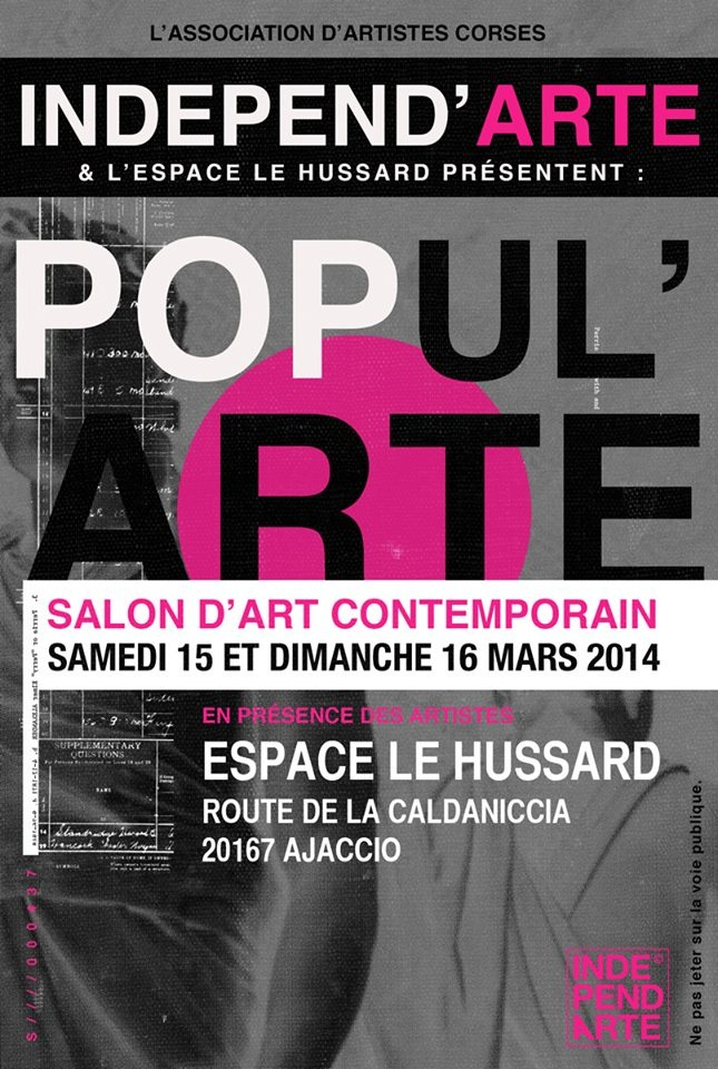Popul'Arte : Deux jours de marché d'art contemporain au Hussard et un appel de Pierre Farel