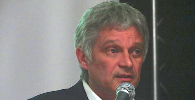Eric Simoni, candidat de Corsica Libera aux élections municipales, tête de liste d'Una alba nova per Bastia.