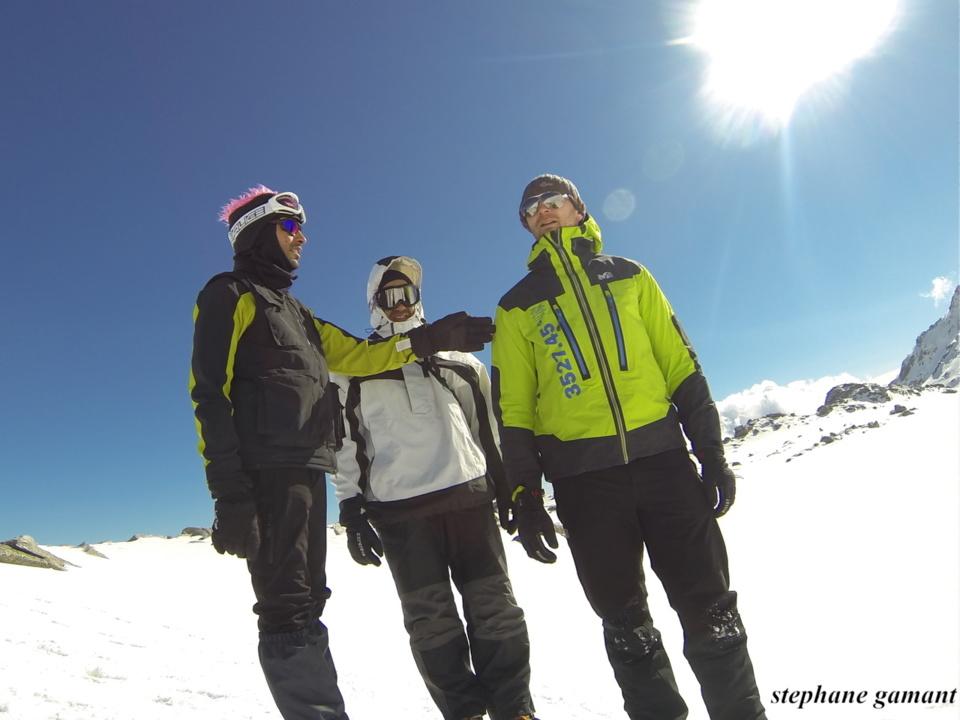 Entre son coach et son sponsor, Mohamed a tout l'hiver amélioré sa condition physique. (Photo SG).