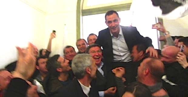 Le leader nationaliste modéré, Gilles Simeoni, nouveau maire de Bastia.