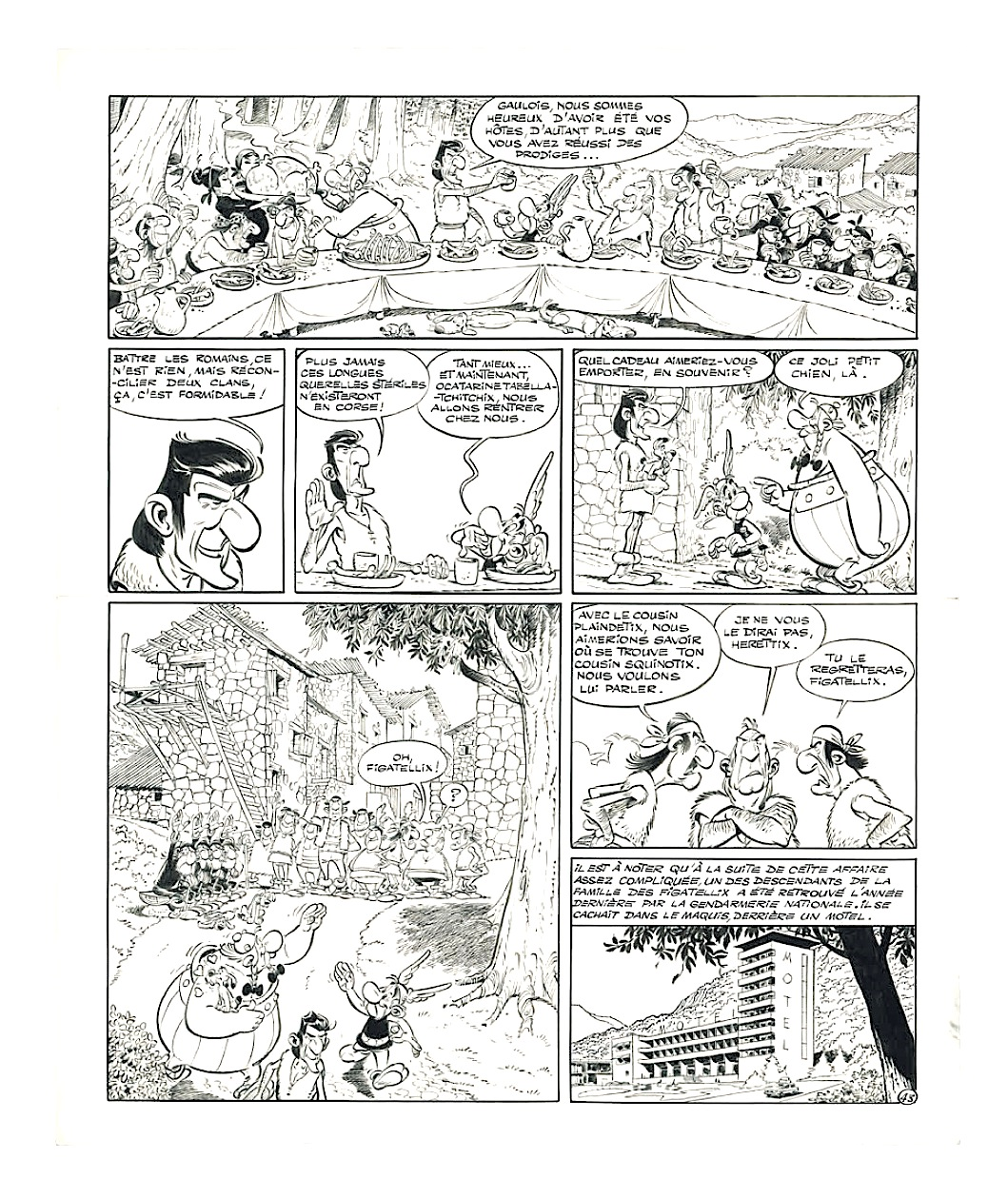La planche d'Astérix en Corse : Mise à prix 110 000 € !