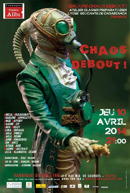 """Bastia : """" Chaos debout"""" à la Fabrique de Théâtre"""