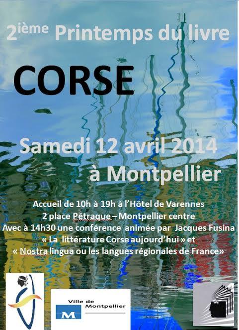Le 2ième printemps du livre corse de  L'amicale des Corses de Montpellier
