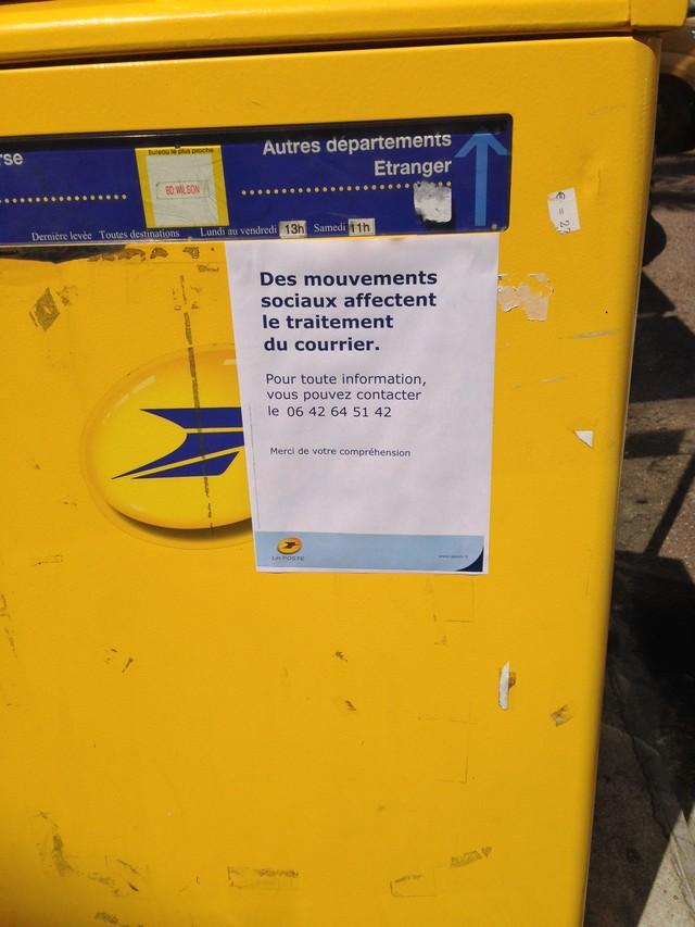 La distribution du courrier perturbée par une grève à Calvi