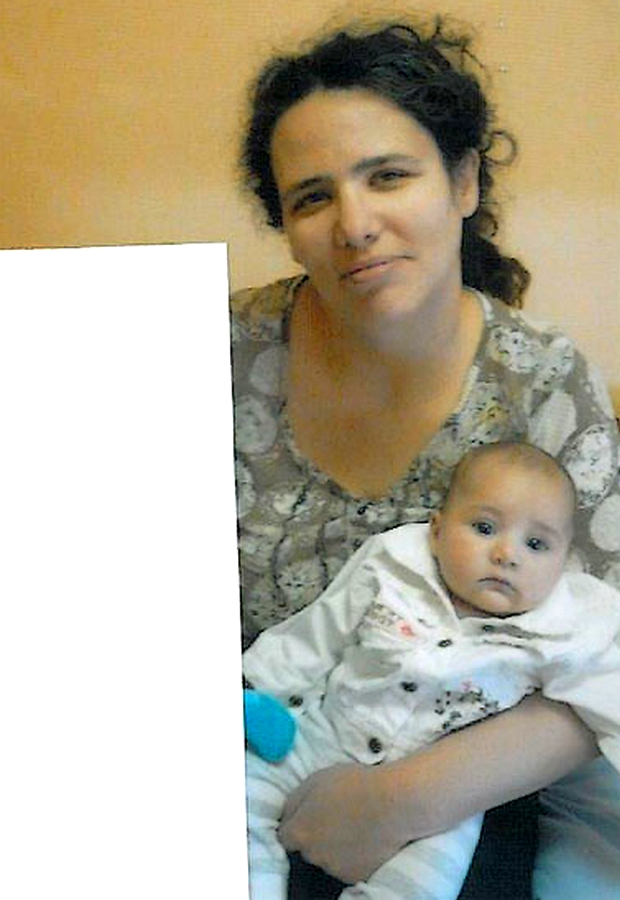 Photo de la petite Miah et de sa mère diffusée par le ministère de la Justice. (DR)