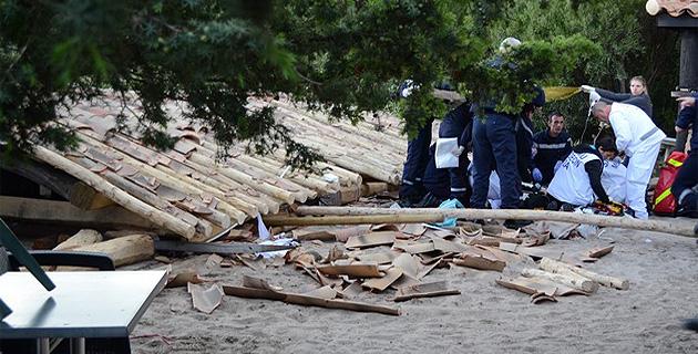 Palombaggia : La tonnelle d'une paillote s'effondre. Huit blessés