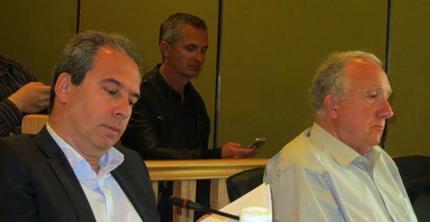 Jean Zuccarelli et Francis Riolacci, deux conseillers communautaires, désormais dans l'opposition.