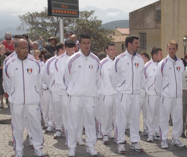 Aux cérémonies du 8 mai à Calvi