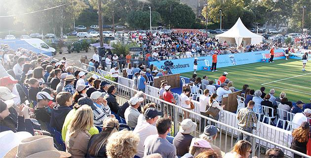 Un nombreux public a suivi le Classic Tennis Tour à Porto-Vecchio (Dr)