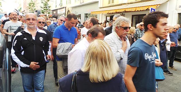 Gilles Simeoni avait pris part au défilé pacifique entre le palais de justice de Bastia et la préfecture