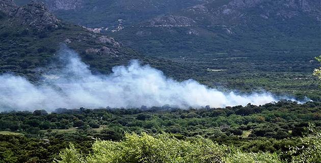 Deux importants écobuages au col de Battaglia et dans le Régino