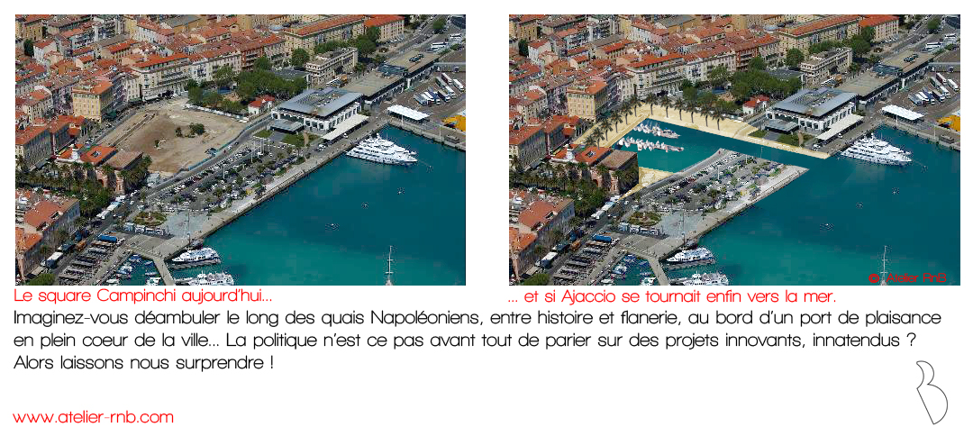 Ajaccio : Le square Campinchi repensé le temps d'une photo sur Facebook