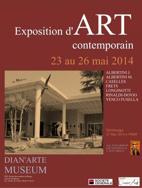 Exposition d'art contemporain du 23 au 26 mai au Dian'Arte Museum