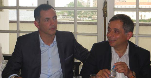 Gilles Simeoni, maire de Bastia, et Henri Malosse, président du Comité économique et social européen.
