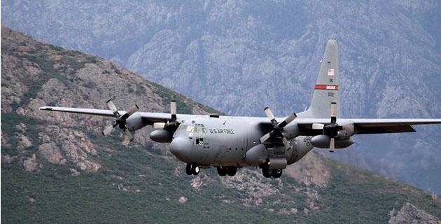Trois Hercule C 130 de l'US Air Force se posent à l'aéroport de Calvi - Balagne