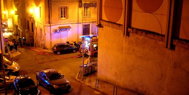 Les Sapeurs-Pompiers ont maîtrisé le sinistre en une demi-heure environ. (Photo : Yannis-Christophe Garcia)