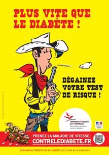 Lucky Luke se mobilise pour la 3e édition de la semaine de prévention du Diabète