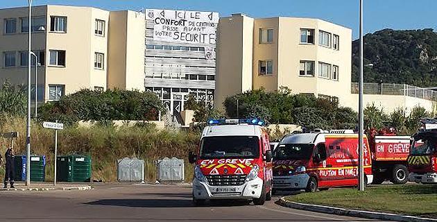 Ajaccio : Pompiers en colère