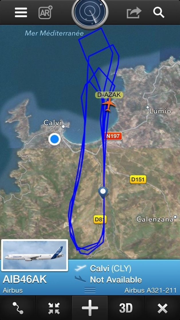 Essais dans le ciel calvais d'un Airbus A321 Sharklets !
