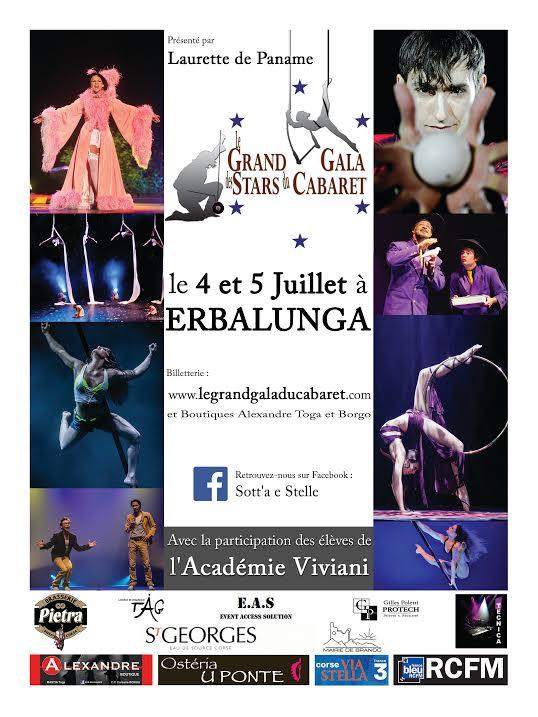 "Erbalunga : Les grandes stars reviennent au ""Gala Cabaret"""