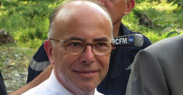 Bernard Cazeneuve, ministre de l'intérieur à Corte.