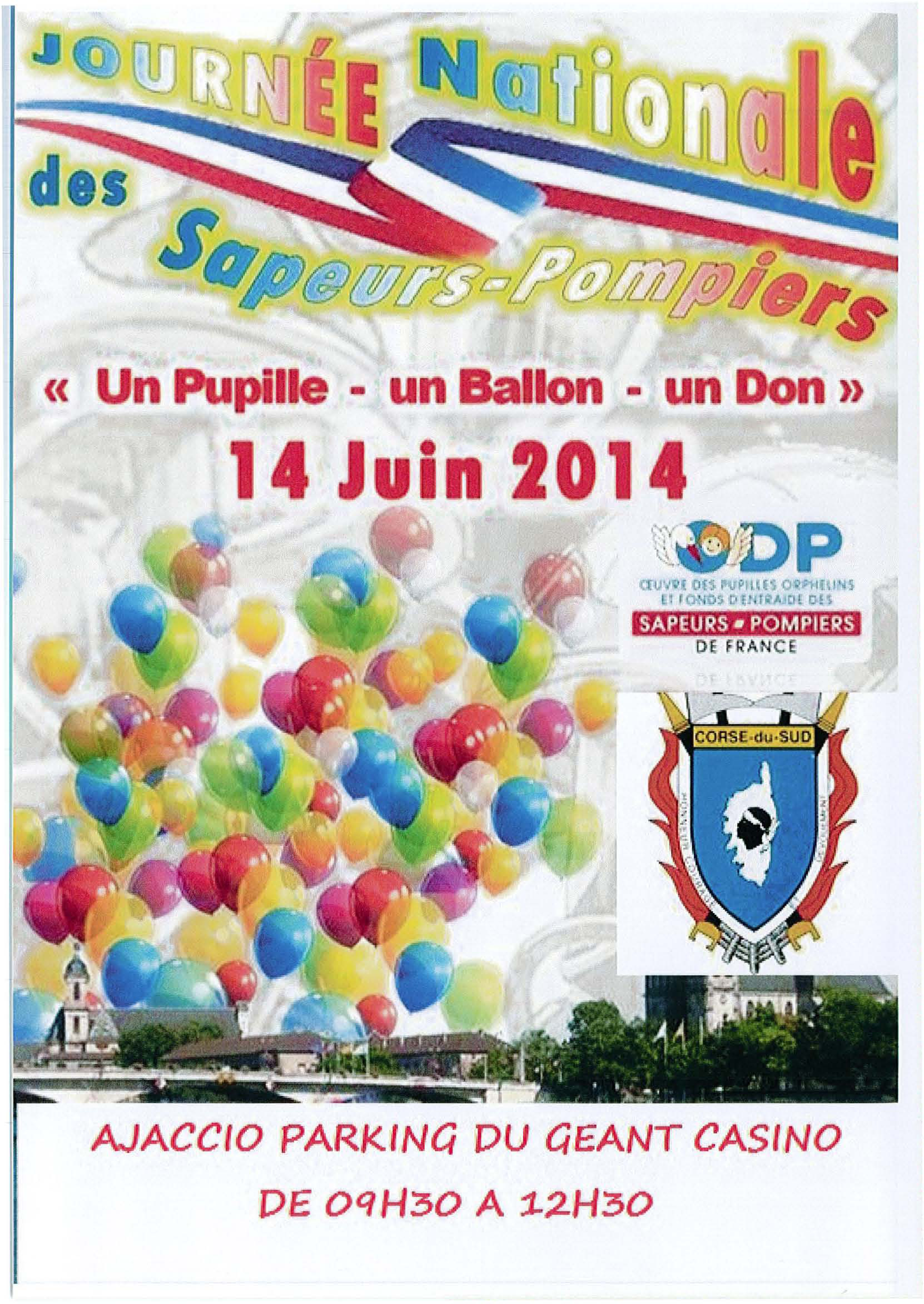 Journée nationale des sapeurs-pompiers à Ajaccio : Un pupille, un ballon, un don