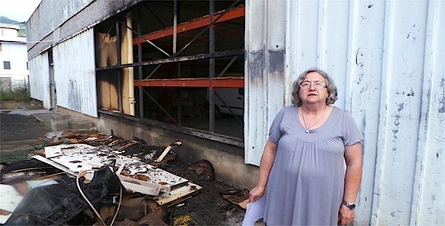 Thérèse Lavanchy constate les dégâts