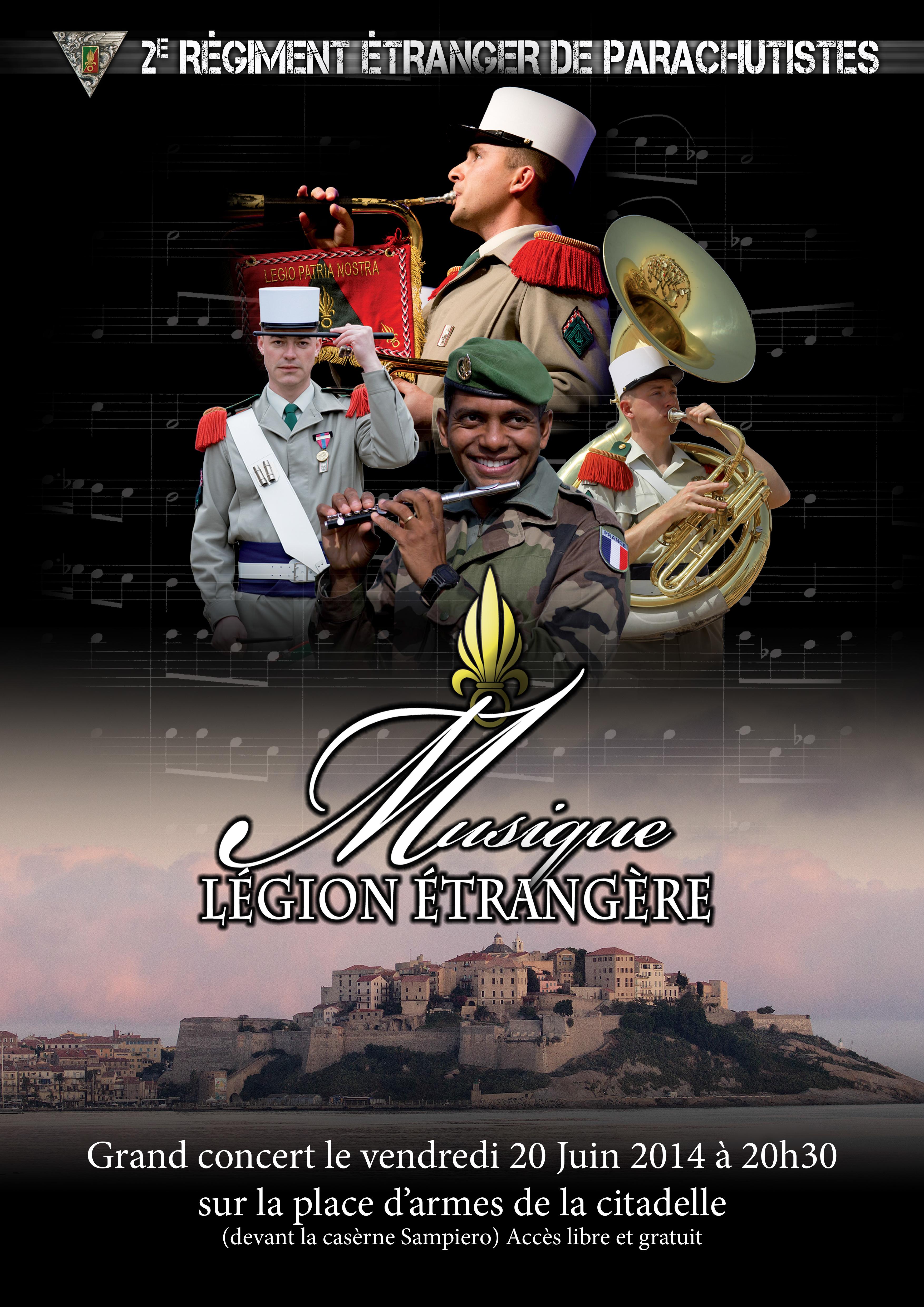 Concert gratuit de la Musique de la Légion Etrangère dans la citadelle de Calvi