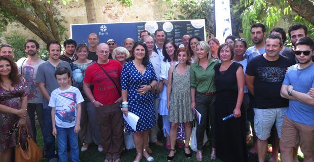 L'équipe municipale entourée des acteurs culturels participant à Bastia in festa.
