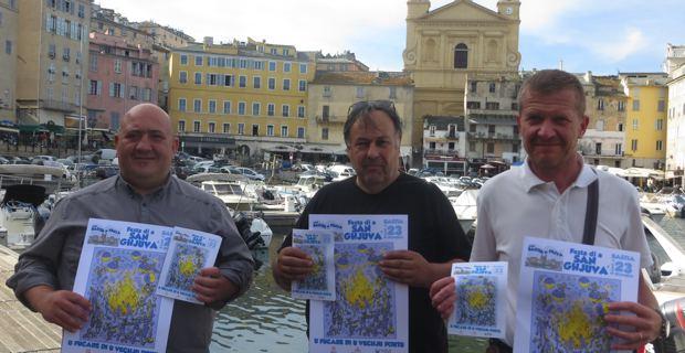 Anthony Esposito, Alain Thiery et Christophe Trancart, respectivement président, secrétaire et trésorier de l'Associu Bastia in Festa.