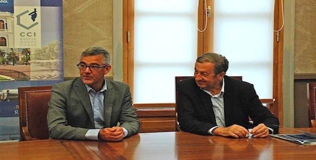 Paul Trojani et Pierre Tolcini, directeur commercial de la compagnie SAS