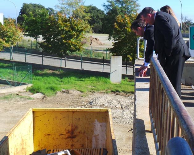 La première benne a été installée au mois d'Octobre à Folelli