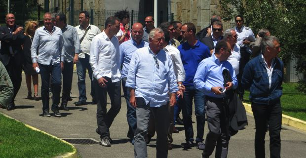 Socioprofessionnels et élus à Bastia.