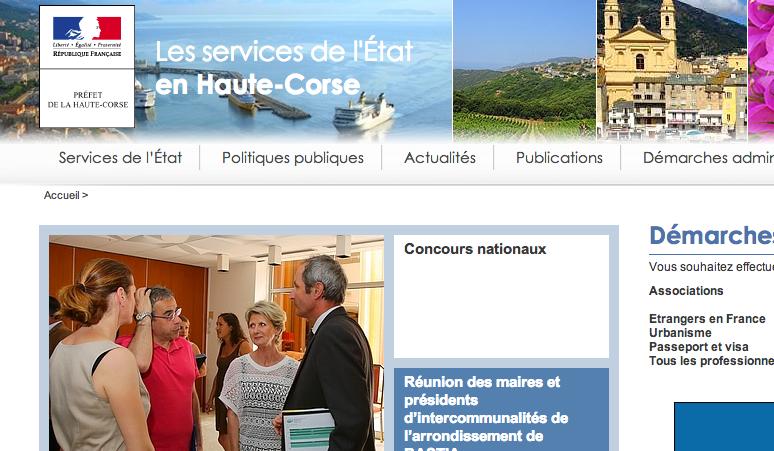 Démarches en ligne sur le site Internet de la préfecture de la Haute-Corse