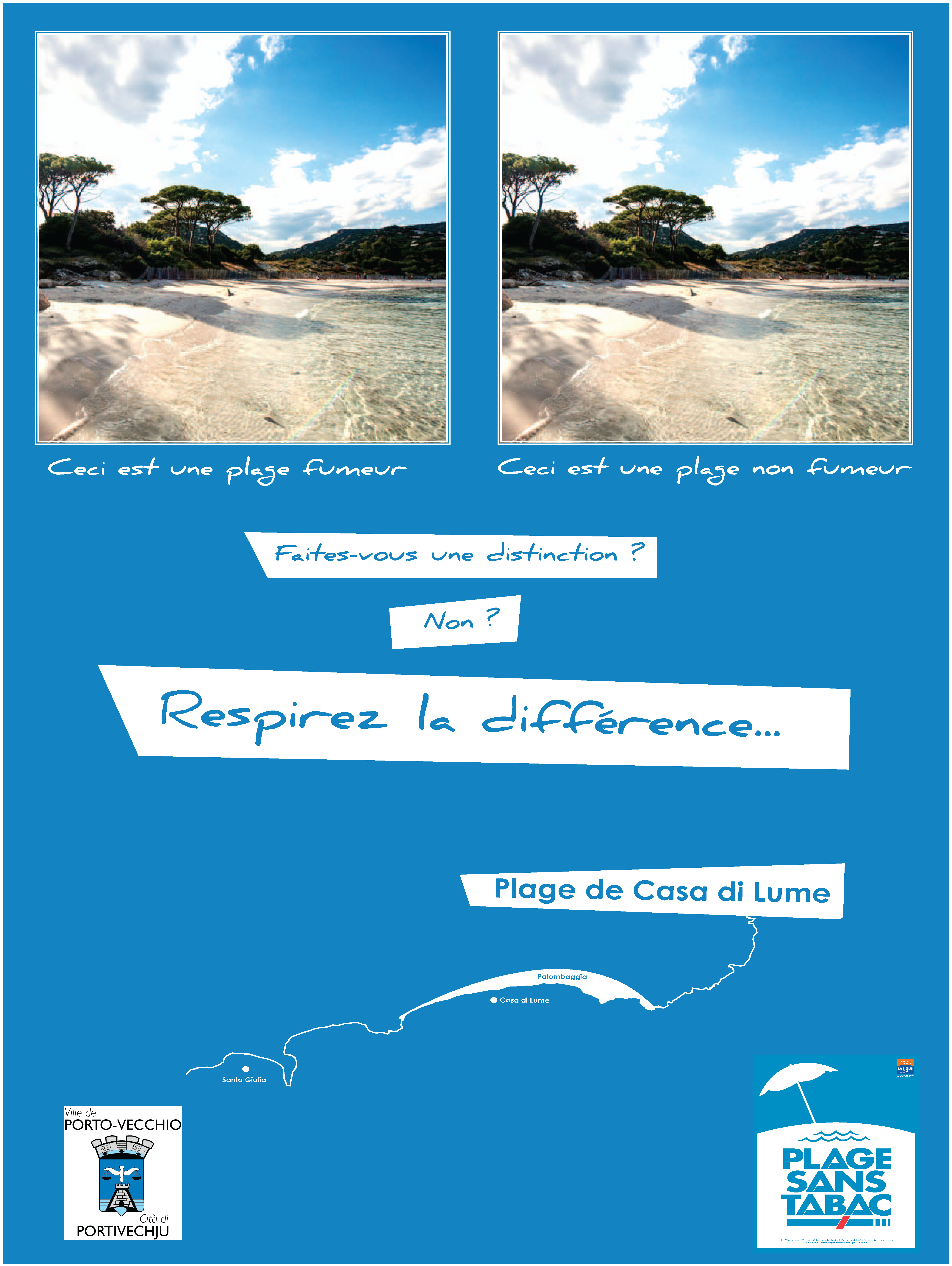 Casa di Lume, à Palombaggia, première plage sans tabac de Corse