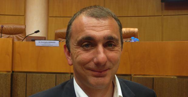 Jean-Christophe Angelini, président du groupe Femu a Corsica, conseiller général et conseiller municipal de Porto-Vecchio.