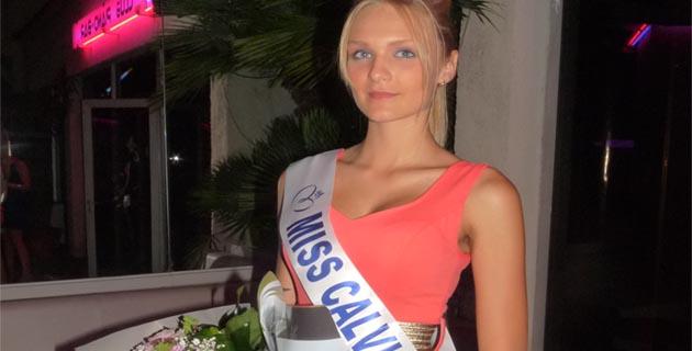 Céline Anchetti Miss Calvi 2014