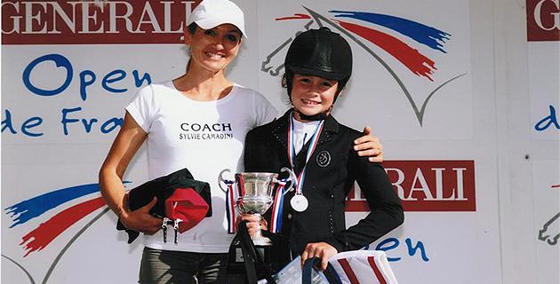 Llona Cardonnet et son coach Sylvie Camadini : sur la plus haute marche du podium