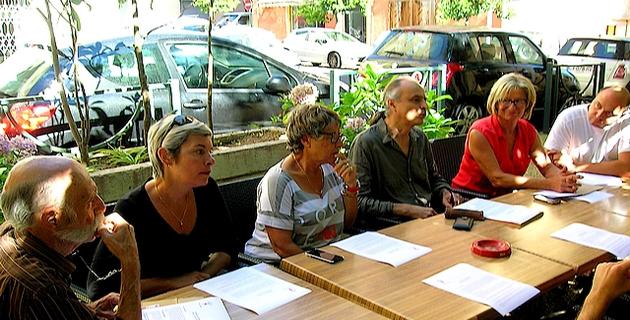 Lors de la conférence de presse qui s'est déroulée mercredi à Ajaccio, la Ligue des Droits de l'Homme en Corse a réclamé l'instauration d'un « véritable processus démocratique en Corse ». (Photo : Yannis-Christophe Garcia)