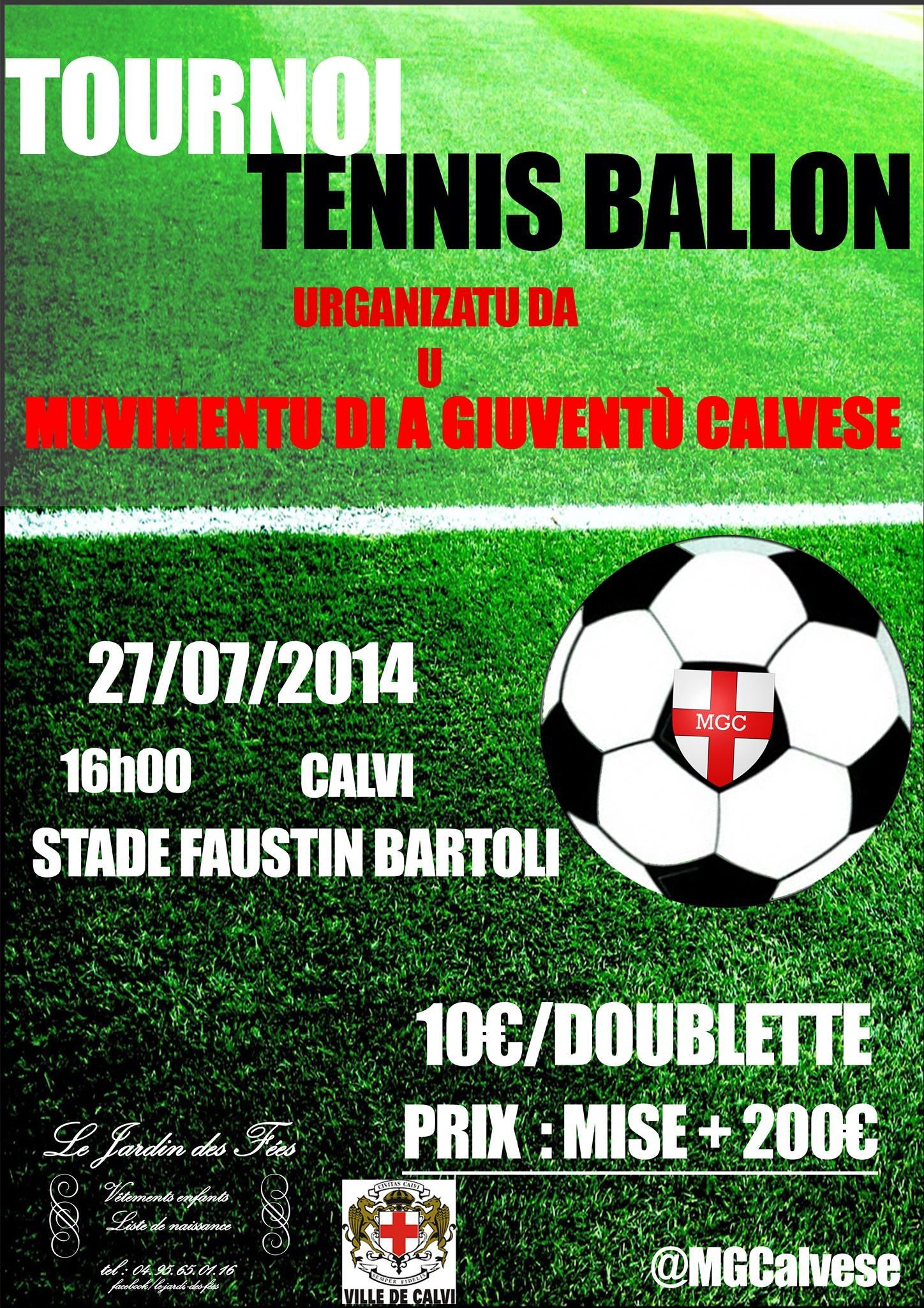 Un tournoi de tennis-ballon dimanche à Calvi