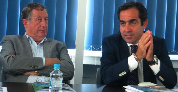 Paul Trojani, président de la CCI Bastia 2B, et Carlos Munoz, directeur de Volotea.