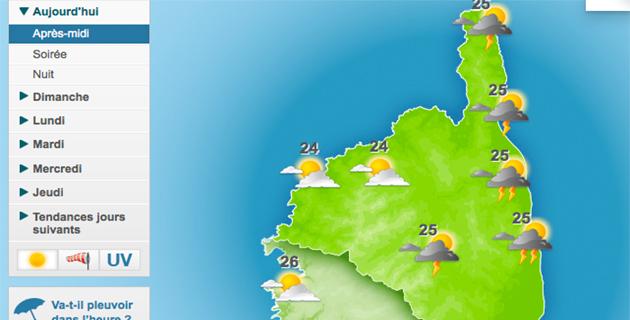 Haute-Corse : Alerte aux orages et au vent