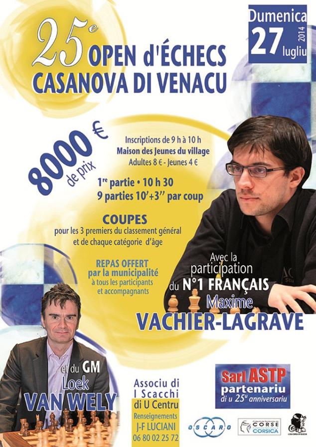 Le 25e open d'échecs de Casanova-di-Venacu : Un grand moment